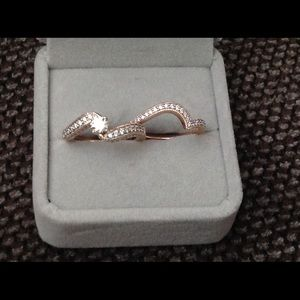 14k rose gold wedding set